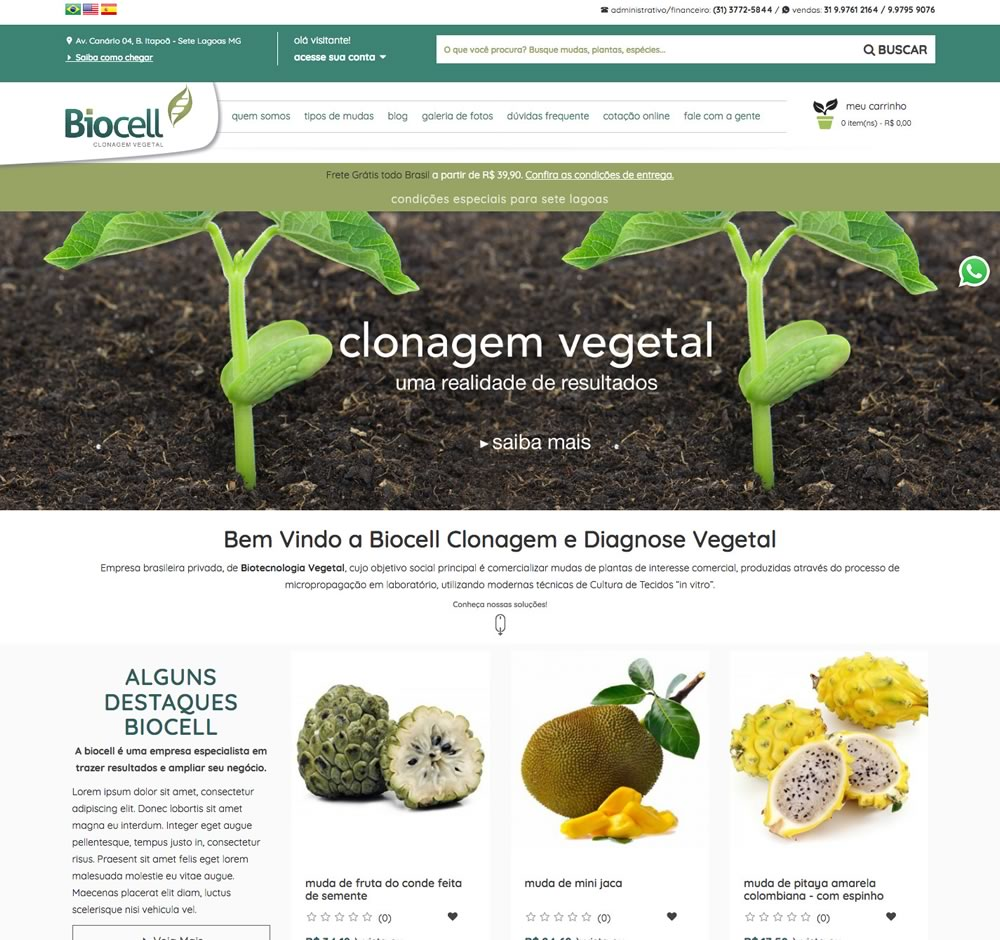 Biocell - Clonagem Vegetal