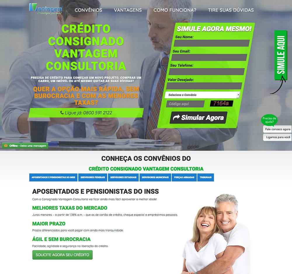 Vantagem Consultoria - Landing Page